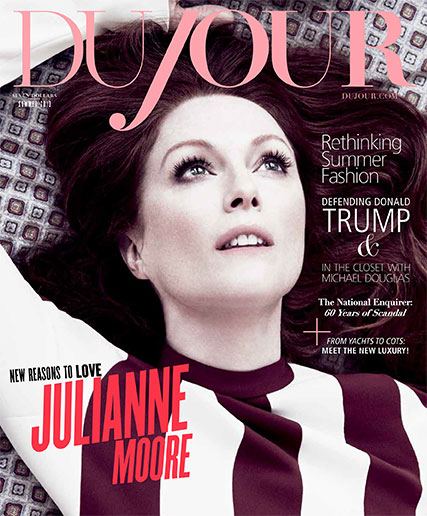 Julianne Moore on the cover of DuJour Magazine