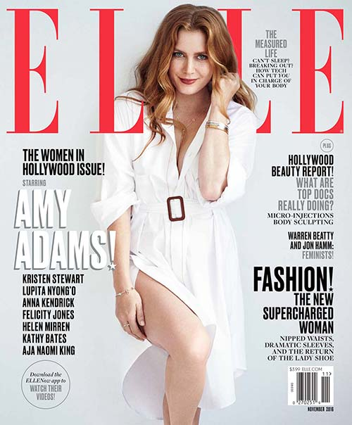 Amy Adams on the cover of Elle magazine