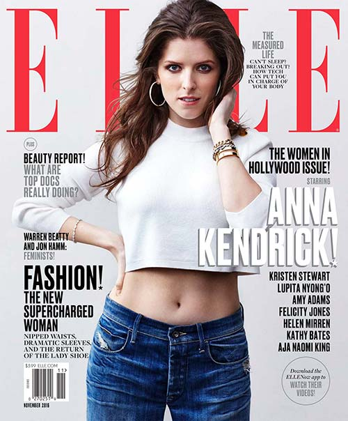 Anna Kendrick on the cover of Elle magazine