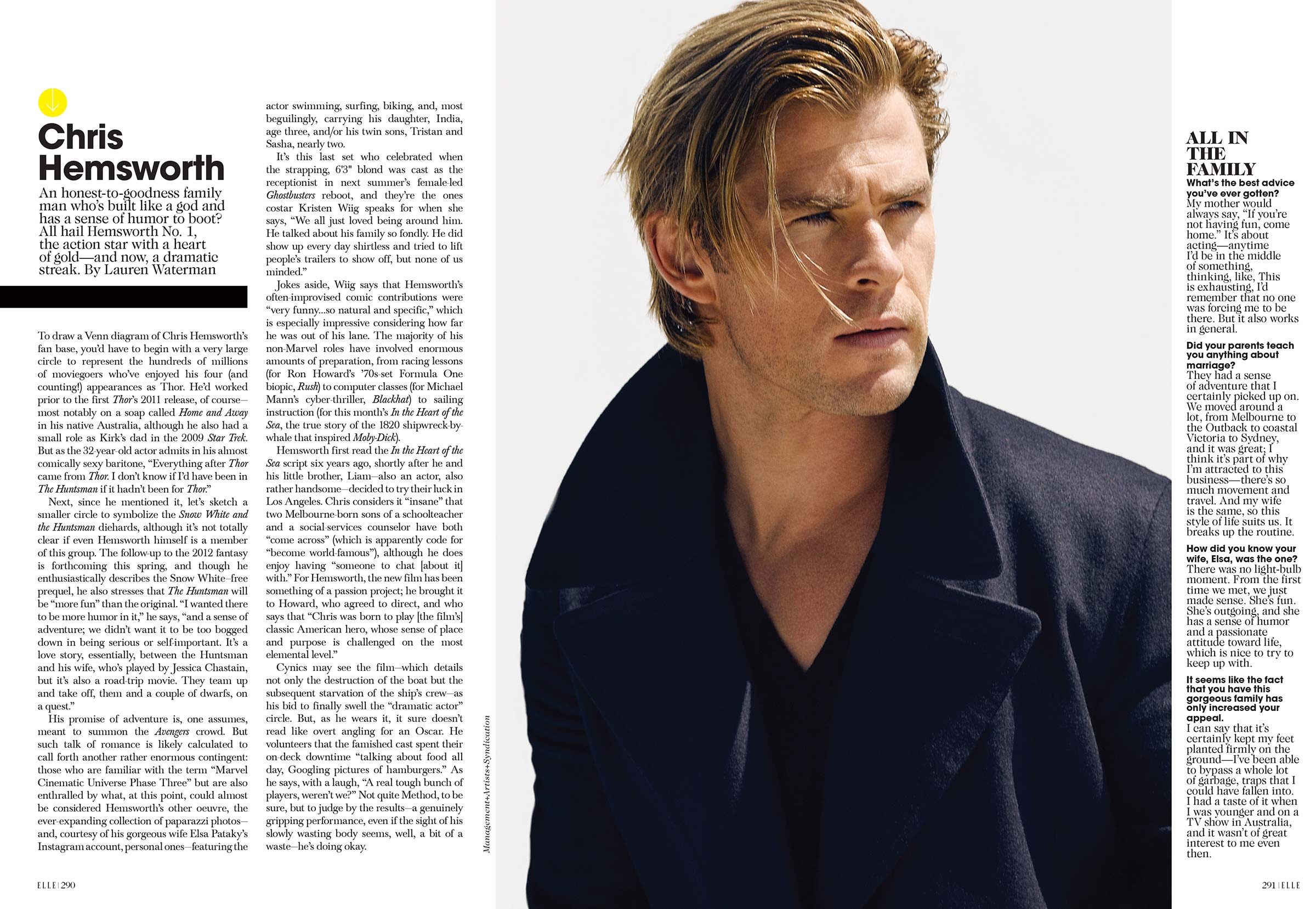 Chris Hemsworth in Elle