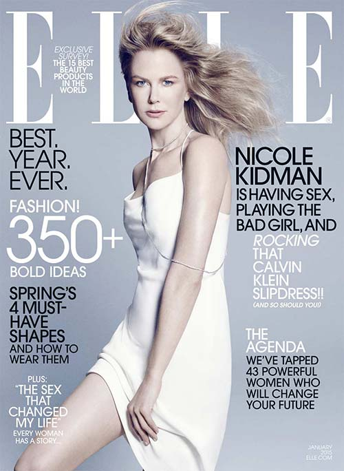 Nicole Kidman on the cover of Elle Magazine